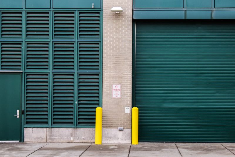 Exterior of closed warehouses