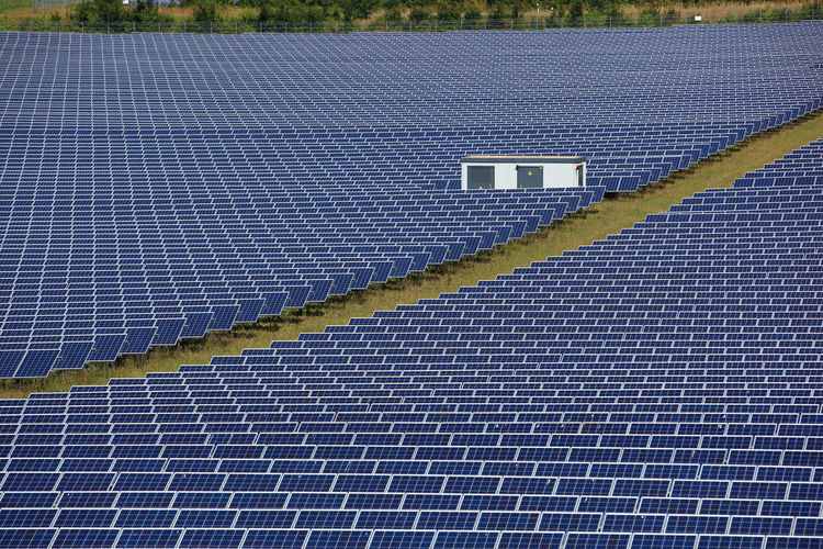 photovoltaic power station, a solar park Alternative Energy Blue Day Electricity  Environment Environmental Conservation Fuel And Power Generation Full Frame High Angle View No People Outdoors Pattern Power Supply Renewable Energy Solar Energy Solar Equipment Solar Panel Sustainable Resources Technology