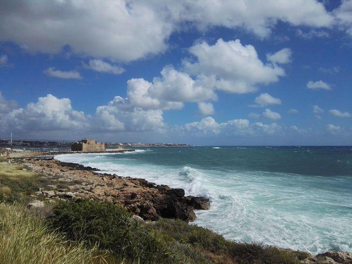 Paphos Paphos Cyprus Mediterranean  Water Sea Wave Beach Sand Blue Idyllic Island Coastline Tropical Climate Seascape Surf Rocky Coastline Horizon Over Water Coast Bay Of Water Lagoon Coastal Feature