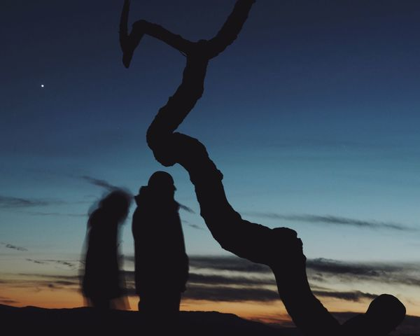 Two People Real People Sky Silhouette Togetherness Low Angle View Outdoors Nature Sunset Tree Winter Finding New Frontiers Miles Away at Gempen,switzerland The Great Outdoors - 2017 EyeEm Awards