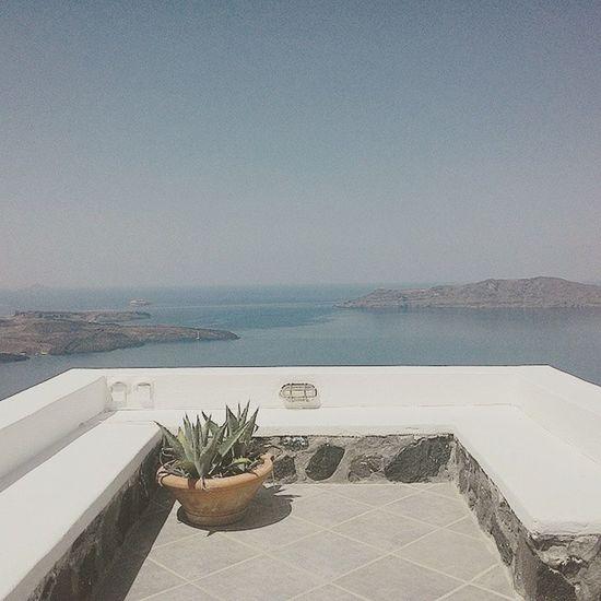 Beautiful view at the villa Santorini Santoriniimerovigli Greece Perfectview Deepbluesea Travelphotography Noelwongphotography
