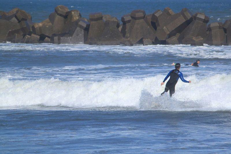 Blue Wave Sea Wave Surfer Tetrapod Japan Neture Seascape Seascape Photography Japan Photography EyeEm Japan