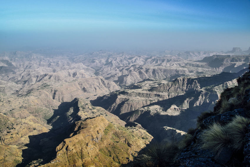 simien mountains national park Ethiopia Ethiopia Aerial View Sky Landscape Rocky Mountains Rock Formation Rock - Object Rock Cliff Canyon Natural Arch Eroded Mountain Geology