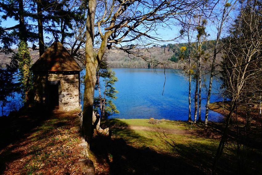 Gour De Tazenat Lake Landscape Auvergne France Iloveauvergne