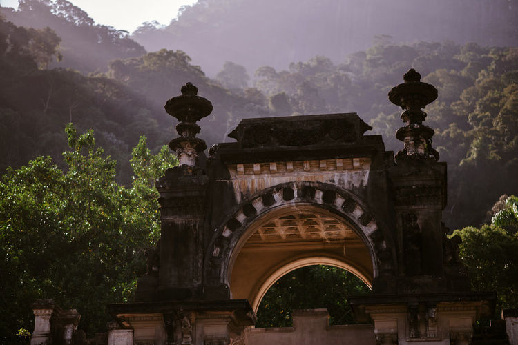 Nature Rio Rio De Janeiro Arch Architecture Building Exterior Built Structure Forest History Landscape No People Outdoors Parque Lage Sky An Eye For Travel An Eye For Travel