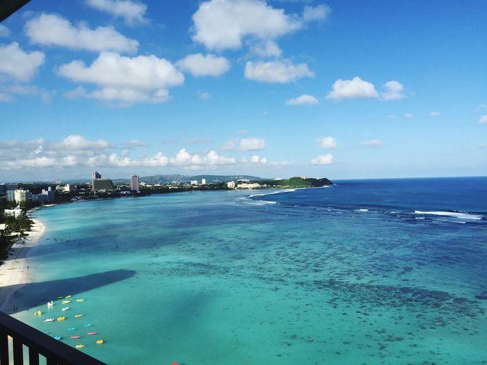 Guam Beach ホテルからの海@グアム