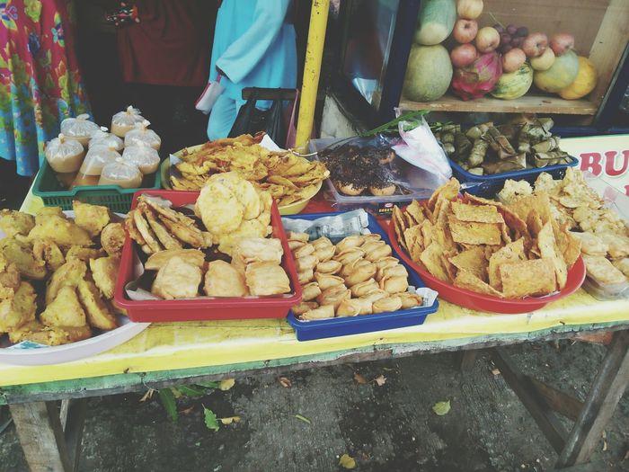"Indonesia's snack ""gorengan"" Food Market Stall INDONESIA Snacks! Streetvendor"