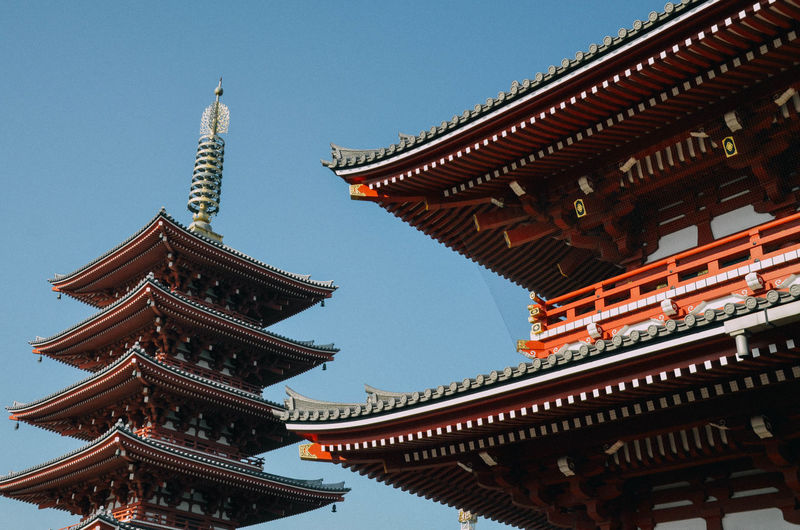 Low angle view of japanese temple