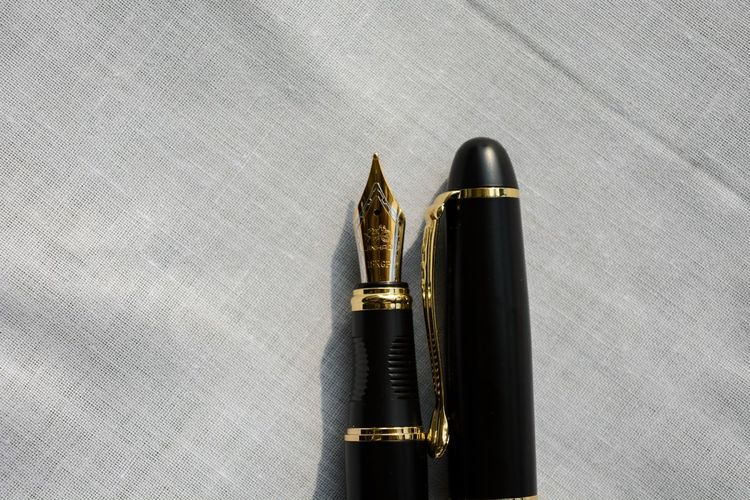 High angle view of pen on floor
