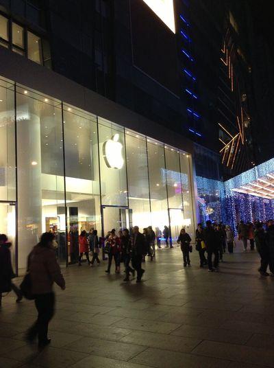 Apple retail store in Beijing Xidan. Apple Inc. Apple Store Beijing Xidan