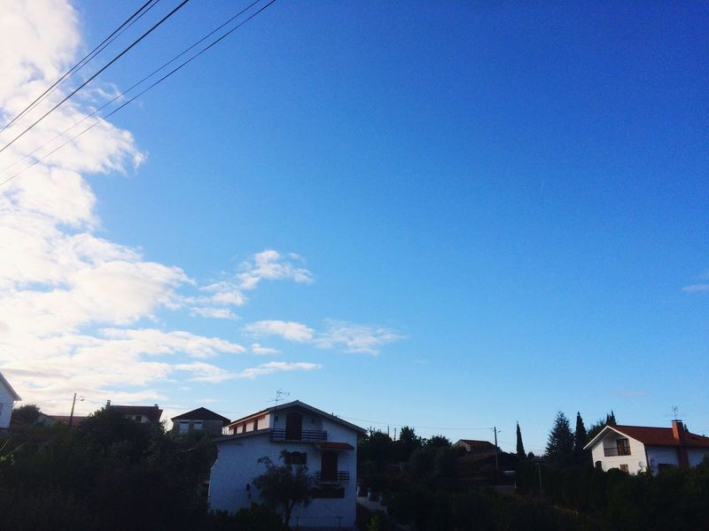 House Built Structure Architecture Cable Sky Building Exterior Blue No People Day Residential Building Outdoors Tree Nature