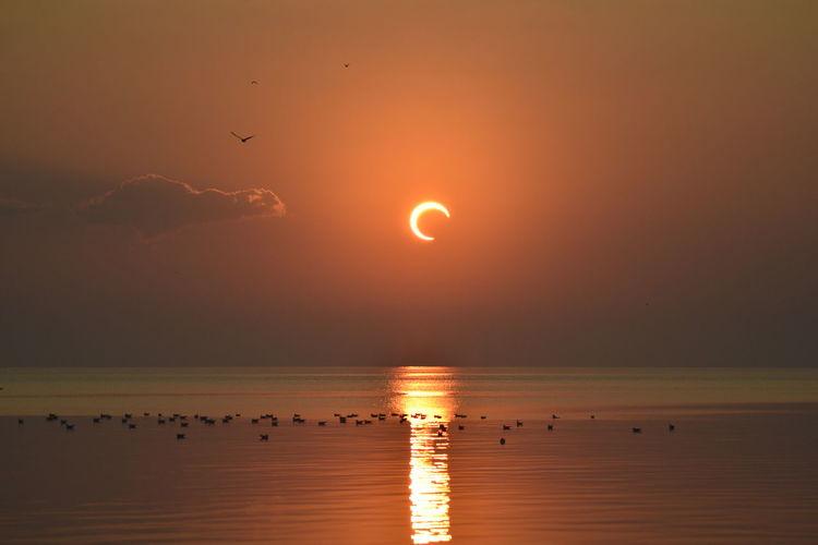 Solar eclipse on 26th of december 2019 in al khobar saudi arabia