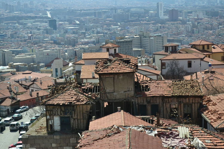 Architecture Roof City Residential District High Angle View House Cityscape Nature Outdoors Travel Destinations Old House