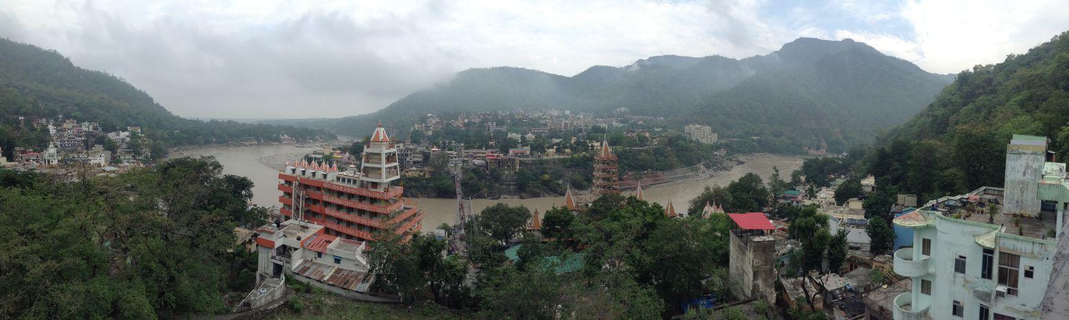 Panoramic View Rishikesh View From Above