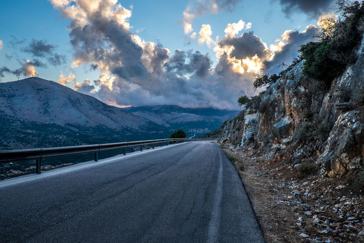 Beauty In Nature Beauty In Nature Cloud - Sky Clouds Day Greece Kefalonia, Greece Landscape Mountain Mountains Nature No People Outdoors Road Sky Sky And Clouds Tourism Travel