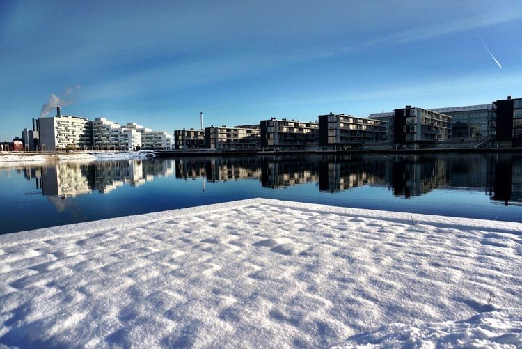 Winter in my hood Snow 500pxGPW15 Eye4photography  Eyeemlandscape Eyeemnaturelover Shootermag Ladyphotographerofthemonth Landscape Beautiful Day Copenhagen Denmark Sydhavnen Water Waterfront Snow Architecture Built Structure Building Exterior Sky Reflection No People Shades Of Winter The Graphic City Stories From The City #urbanana: The Urban Playground