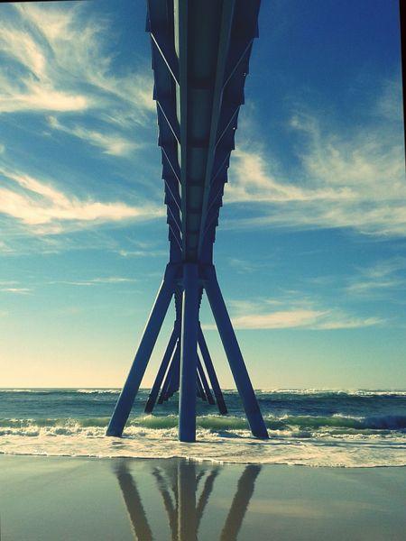 Wharf Bridge Blue Ocean Sky
