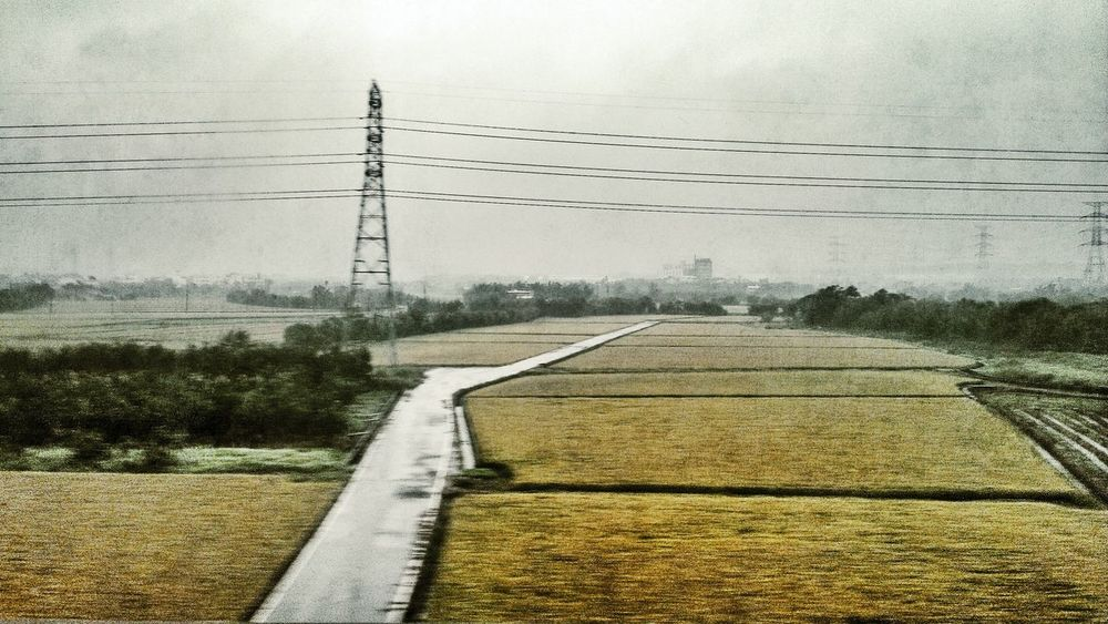 On The Train On My Way Countryside Landscape_Collection