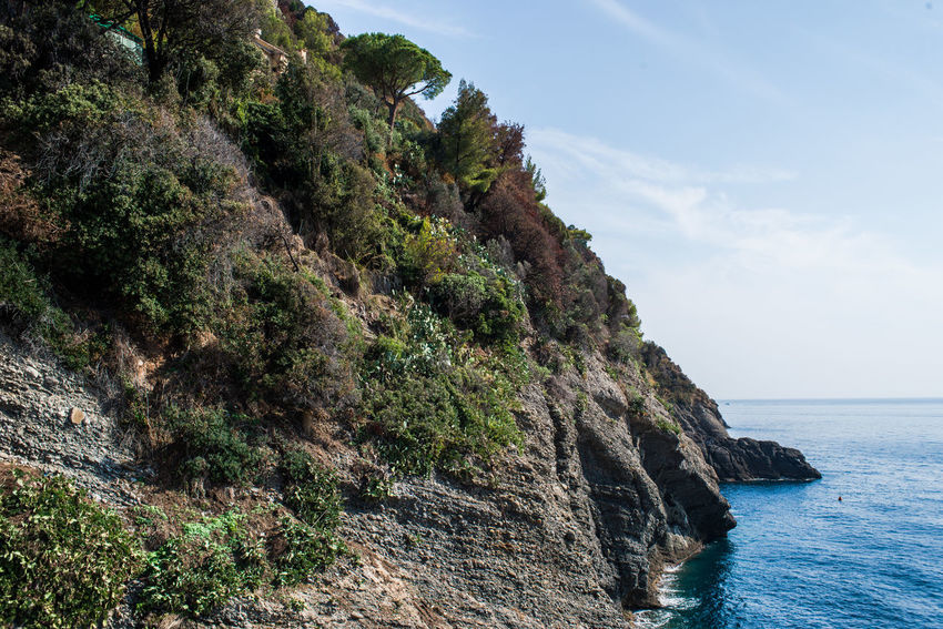 Hiking Nature Portofino Natural Regional Park Rock Formation Rocky Travel Adventure Blue Horizon Over Water Mountains Outdoors Punta Chiappa Scenics Sea Sky Tourism Vacation Water