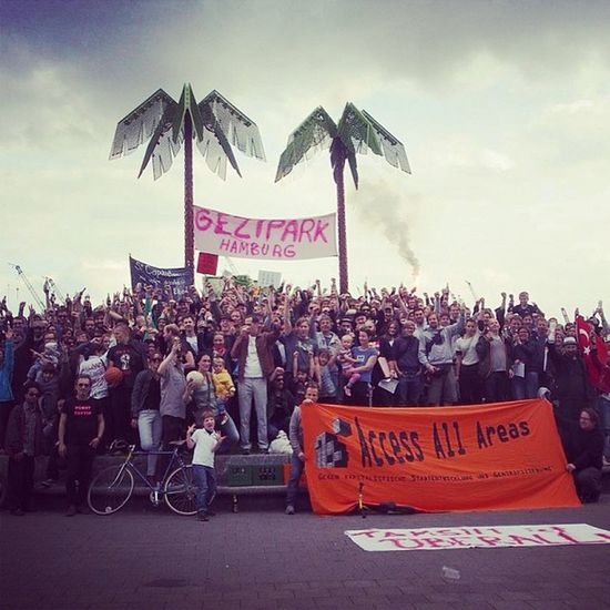 Resistanbul Gezipark Demonstration at Hamburg Parkfiction stpauli