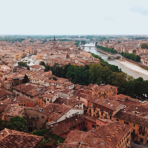 View From Above View From The Top Rooftop Rooftops Verona Italy Castle San Pietro City Life TOWNSCAPE Aerial View Travel Destinations Hill Horizon Over Land Rooftop View  Rooftop Scenery Cityscape Housing Settlement Residential District No People Building Exterior Elevated View Landscape From The Rooftop Town View City View