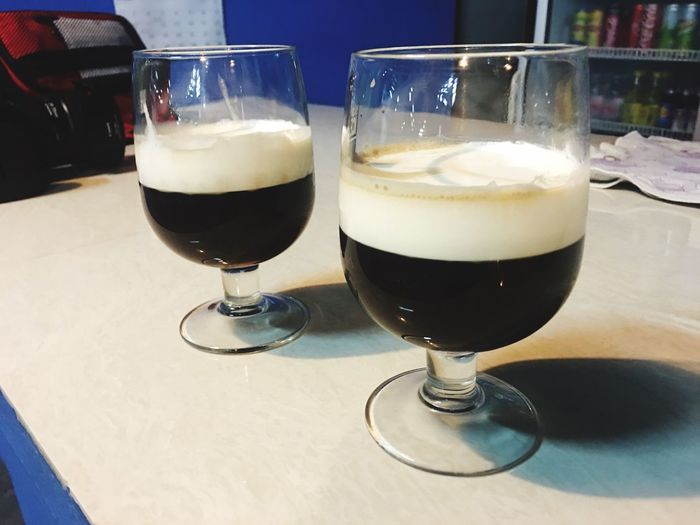Irish Coffee Irish Drink Drinking Glass Refreshment Table Food And Drink Alcohol Indoors