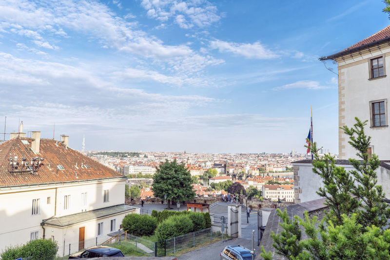 Views of the main monuments and streets of Prague, in the Czech Republic Architecture Bohemian Building Exterior Built Structure Capital Cities  Cityscape Cloud - Sky Community Day European  High Angle View History Architecture Landscape No People Outdoors Place Of Worship Prague Czech Republic Residential Building Sight Sityscapes Sky Streetphotography Town Travel Destinations Tree