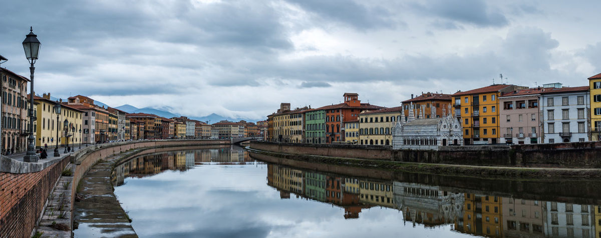 Fiume Arno Fiume Arno Pisa Water Arno River Tuscany Cloud - Sky Cloud Sky Color Reflection Landscape City City Life Buiding Houses Lovely Place Places City Place Travel Travel Destinations Visiting Weekend Fall In Love Blue Sky Vacations Water Cityscape Day City No People