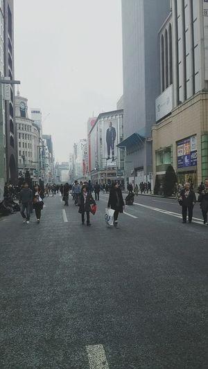 銀座ブラGinza 歩行者天国 People 銀座は海外からの観光客でいっぱいでした(°Д°)