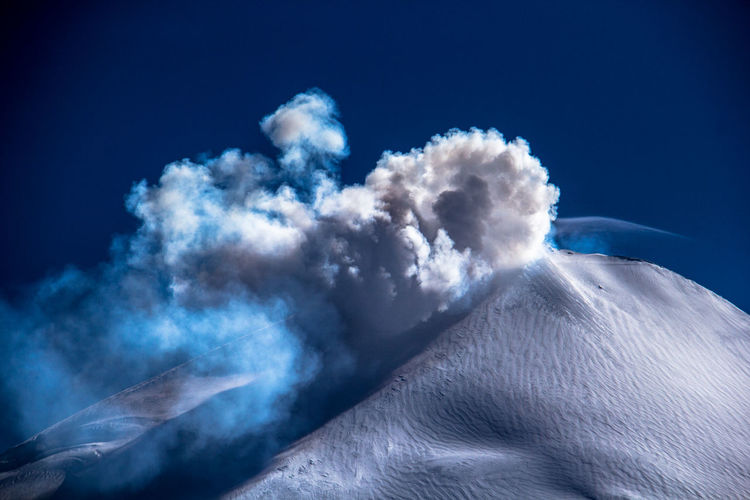 Volcán Villarrica Beauty In Nature Blue Cloud - Sky Day Dreamlike Extreme Terrain Fluffy Geology High Up Majestic Mountain Mountain Peak Nature Outdoors Physical Geography Remote Scenics Snow Covered Snow ❄ Snowing Softness Tranquility Volcano Volcano Eruption Volcanoes
