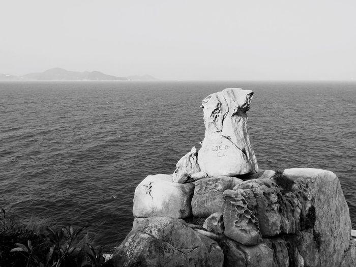 Rock Formations Ocean Shades Of Grey