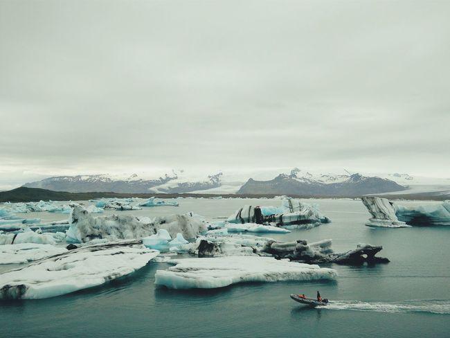 The Traveler - 2015 EyeEm Awards Iceland Glacial Lake Lake Iceberg