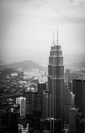 Architecture Architecture_bw Architecture_collection Architecturelovers Canon350D Capital Cities  Cityscape Cityscape Cityscape Kuala Lumpur EyeEm Best Shots - Black + White Height Monochromatic Monochrome Monochrome _ Collection Petronas Petronas Twin Towers Petronastowers Skyline Skyline Kuala Lumpur Skyscraper Smog Top View Traveling In Malaysia Traveling Malaysia Twin Towers