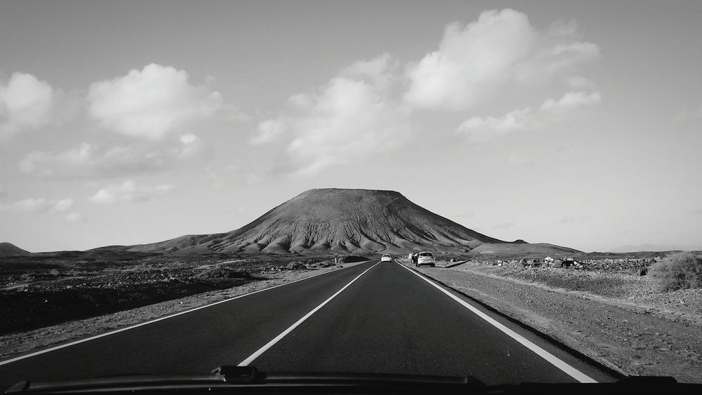 The Way Forward Outdoors Road On The Road Volcano Fuerteventura Canarias Perspective Lines Road Trip Volcanic Landscape