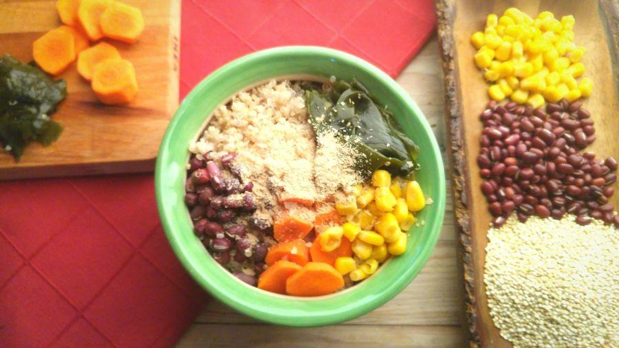 Lunch buddha bowl Healthy Eating Bowl Food And Drink No People Buddha Quinoa Quinoabowl Quinoasalad Azuki Bean Azuki  Wakamesalad Wakame Healthyfood Fruit Food Freshness Indoors  Close-up Day