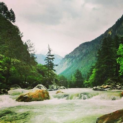 one of the few pictures I clicked At Kasol Parvati river Stonned Bestevening  TBT  Parvativalley 2013 Thuglife Travellers Vagabond