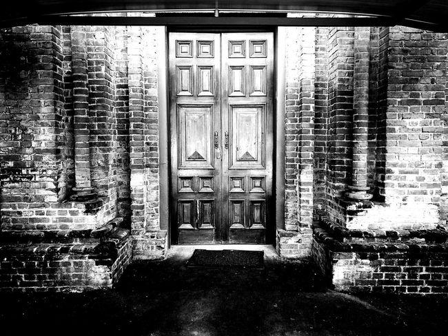 Built Structure Architecture No People Day Outdoors Doors Lover Door Brick Wall Brick
