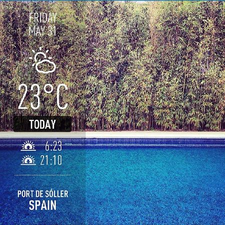 Good morning world, good morning Mallorca. And how is your day? ;-) #Weather #PortDeSóller #Mallorca #Spain Weather SPAIN Mallorca Portdesóller