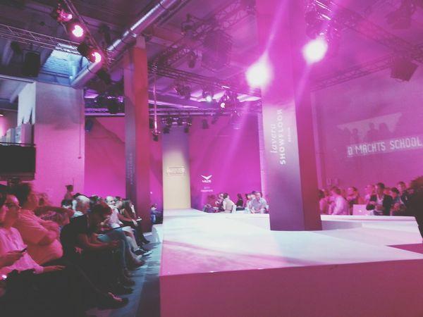 waiting for the show to begin Berlin Fashion Week