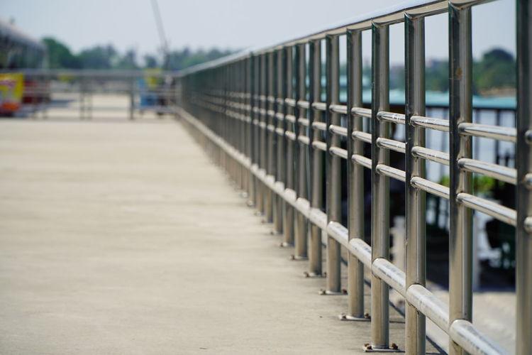 View of bridge in row