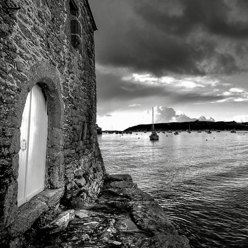 Brittany Britania Bretagne Finistere Water Architecture Built Structure Cloud - Sky Sky Nature Day No People Outdoors