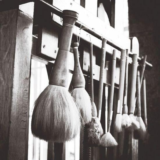 Frida's tools. Brushes Painting Art Blackandwhite