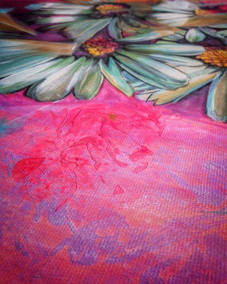 Macro Beauty Fine Art Photography Neon Pink Acrylic Painting Pastel Power Pastel Shades