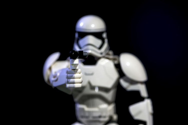 Hand Up Lego Star Wars  Stormtrooper Black Background Chess Piece Close-up Gun Human Representation I'll Kill You Illuminated Indoors  No People Studio Shot Take Me To Your Leader Technology Weapon Young Adult