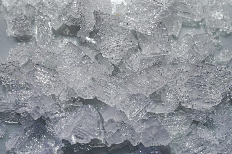 Full frame shot of ice cubes