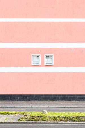 Minimalist Architecture Pastel Power Pink Urban Geometry Architecture Building Exterior Built Structure Day Minimalism No People Outdoors Pastel Repetition Symmetrical Symmetry Colour Your Horizn