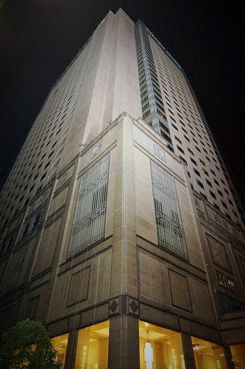 Malaysia Kuala Lumpur Mandarin Hotel Nightshot Architecture Low Angle View