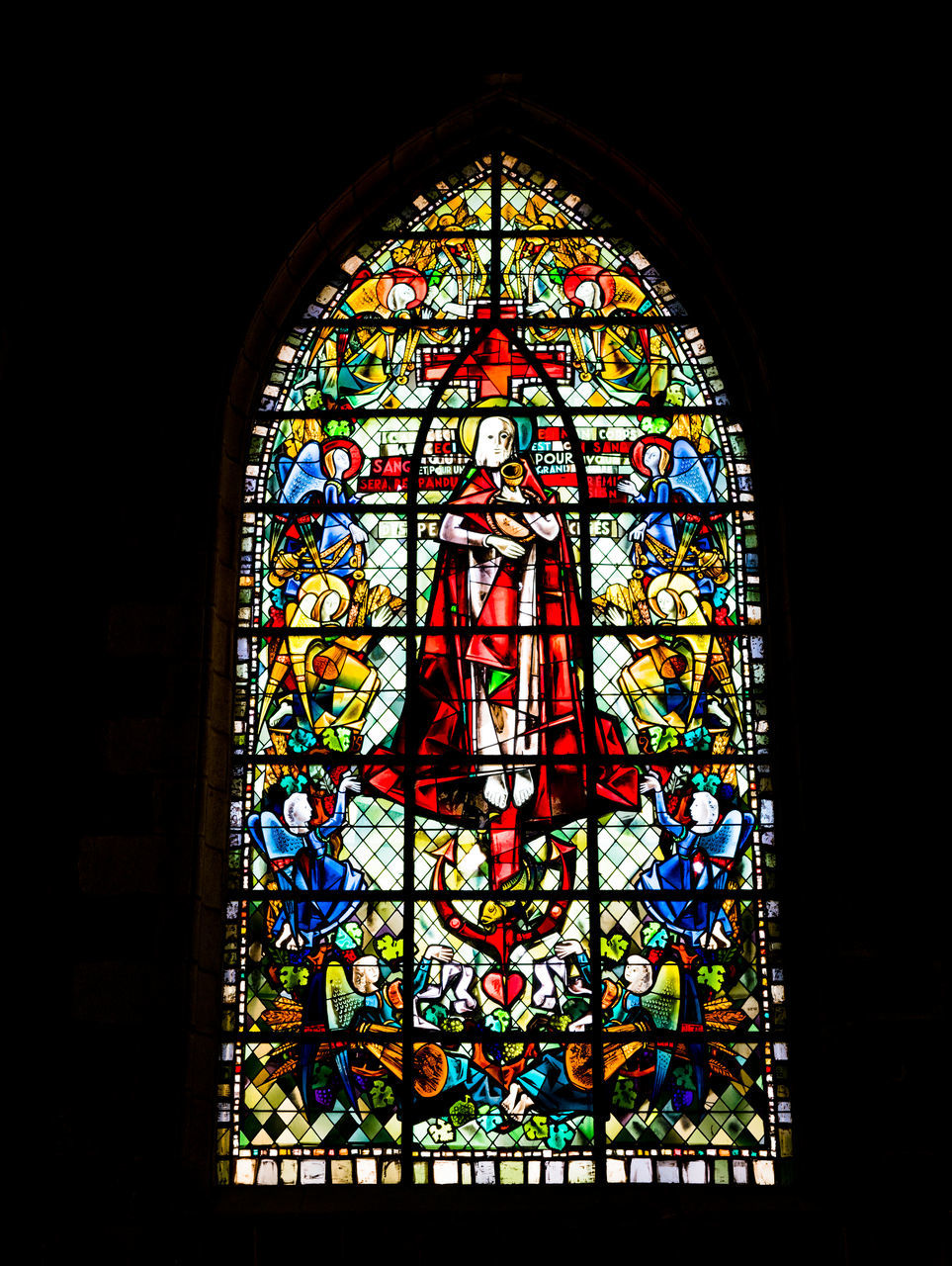 stained glass, glass, window, glass - material, multi colored, art and craft, place of worship, creativity, religion, spirituality, belief, indoors, design, pattern, built structure, architecture, no people, building, ornate, floral pattern