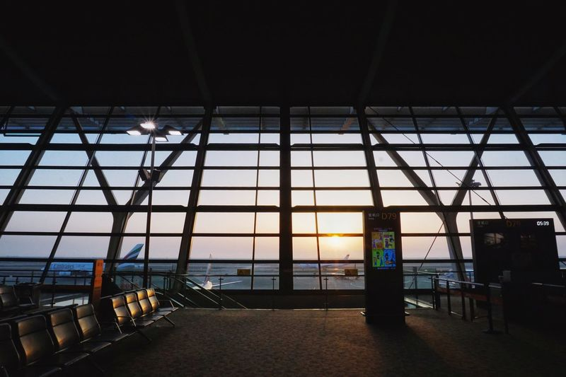 Wait to fly. @Shanghai Indoors  Window Architecture Built Structure Day No People Illuminated Sky Airport Airplane Shanghai