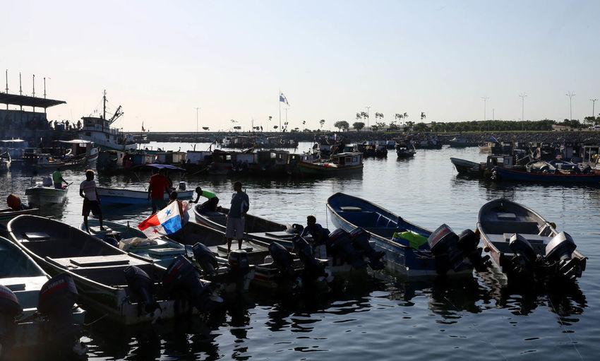 Nautical Vessel Transportation Water Large Group Of People People Silhouette Panama City Bahia Muelles EyeEmdiversity EyeEmNewHere